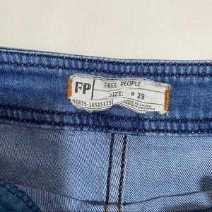 Free People Shorts - Free People Medium Wash Double Zipper Jean Shorts